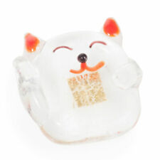 Miniature Crystal Japanese Lucky Cat Ornament