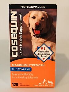 Cosequin DS 120 Tablets Joint Health Supplement Dogs SEALED BOX x 8/2023