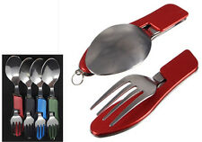 3 In 1 Stainless Steel Outdoor Camping Fold Multi Tools Fork Spoon Knife Set CIT