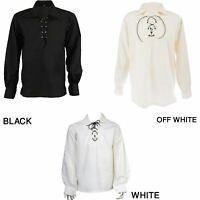 Ghillie Scottish Jacobite Kilt Shirt Men's Different Colors, Sizes Available