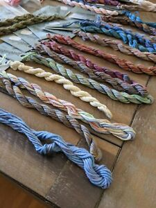 Lot 45+ Caron Waterlilies Silk Threads 12 Ply Silk 6 yds + Labels Mixed Colors