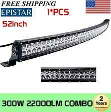 52inch 300W Led Light Bar Curved Spot Flood Combo Driving Offroad Truck SUV 250W