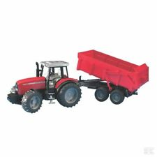Bruder Massey Ferguson 7480 1:16 Scale Model Tractor With Trailer Collectable