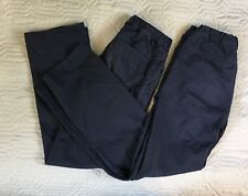 Lot Of 2 Old Navy Straight Flat Front Blue Pants School Uniforms Size 16 Regular