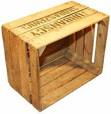 """Lot de 12 solide cageot à fruits """" TS """" déco Caisse à vin boîtes pommes en bois"""