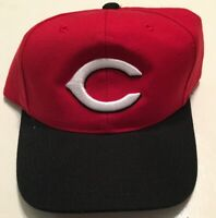 Vintage Cincinnati Reds Sports Specialties Snapback Hat Red Black NWOT