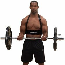 MAXSTRENGTH Arm Blaster Bicep Biceps Isolator Bar Weight Lifting  Gym Training