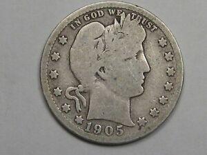 Better-Date 1905-s US Barber Quarter. #11
