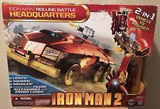 Iron Man 2 Rolling Battle Headquarters 2 In 1 Vehicle Set Lights & Sounds NIB!!!