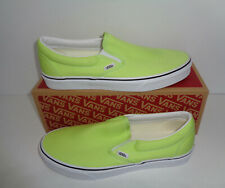 VANS Ladies Classic Slip On Lime Womens Trainers Shoes New RRP £55 UK Size 3.5