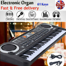 More details for musical keyboard piano 61 keys electronic electric digital beginner kids