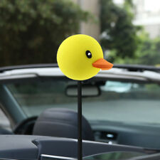 1pc Car Antenna Pen Topper Aerial Ball Decoration Gift Toy Yellow Duck Universal