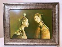 vintage original Georges Mazilu Romanian Northern Renaissance acrylic painting