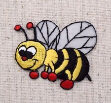 Bumble Bee Yellow/Black - Red Boxing Gloves - Iron on Applique/Embroidered Patch