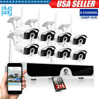 WIFI 8CH 1080P NVR Outdoor Security IP Camera Home Wireless HDMI Security System