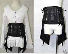 Japan Kera Visual Punk Rock swallow-tailed corset Sz S