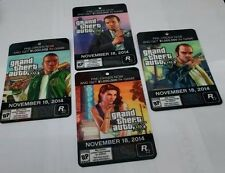 *NEW* GTA 5 - 4 PROMO CARDS Badges PROMO Retail Advertisement GRAND THEFT A