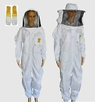 OZ APIARIST BEEKEEPING SUIT BEE SUIT HEAVY DUTY , FREE COW HIDE VENTED GLOVES