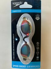 Speedo Competitive Speed Socket 2.0 Mirrored White and rainbow curved lens