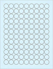 """6 SHEETS 3/4"""" CIRCLE BLANK BLUE 648 STICKERS LABELS~FITS CHOC.KISSES BOTTOMS TOO"""