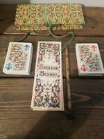 Vintage Roma Bridge Plastic Playing Card Set Images of Italy 2 Decks Score Pad