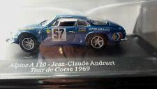 VOITURE MINIATURE 1/43è  RENAULT  ALPINE  A 110 N° 57  Tour de Corse  1969