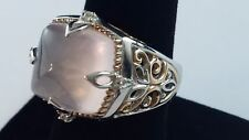 Lovely Michael Valitutti NH 925 Sterling Silver Ring Pink See Thru Stone Sz 9
