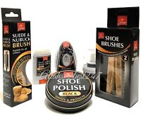 Pack Of 2 Wooden Shoe Brush Instant Shine, Suede Nubuck Brush and Shoe Polish