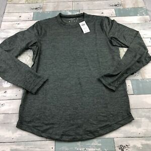 Abercrombie & Fitch men's soft air knit Long sleeve crew neck shirt M Marled