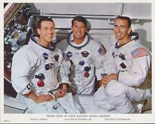 FIRST MANNED APOLLO CREW PICTURE (3) SIGNED BY WALTER SCHIRRA, JR. BT8084