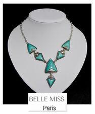 Luxus Halskette Statement Kette Belle Miss Paris Emaille Collier