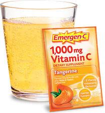 Emergen-C Dietary Supplement Tangerine 30 .32oz packets - New