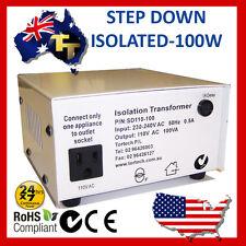100 WATT ISOLATED STEP DOWN TRANSFORMER 240 120V SD110-100