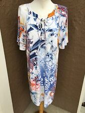 New $119 Chico's Refreshing Floral Paisley Print Dress Sz. 2 = L Large 12 14 NWT
