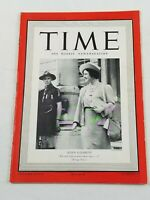 Vintage Time Magazine October 9 1939 Queen Elizabeth Cover Weekly News WWII Era