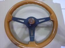 RARE ABARTH wood steering wheel antique button FIAT autocross racer 14'36cm A711