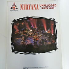 songbook NIRVANA, unplugged in new york, 1995, guitar edition