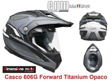 Casco MOTARD Doppia Visiera CGM 606G FORWARD Titanium Opaco Taglia S 55/56 cm