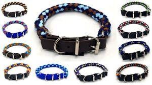 Hundehalsband rundgeflecht Tauwerk mit Biothane Schnallenverschluß  40 Farben
