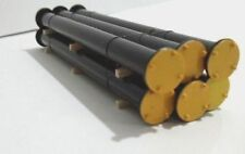 HO Scale Loads - 11548 - Black Pipes with Flanges and Yellow Caps - Short