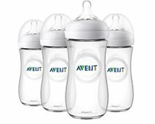 NEW Philips Avent Natural Baby Bottle Clear 11oz 4pk SCF016/47 FREE SHIPPING