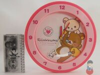 Orologio Rilakkuma Anime Cartoon Wooden Wall Clock - 27cm Limited Japan