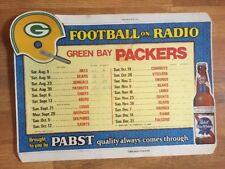 1975 GREEN BAY PACKERS SCHEDULE PABST BLUE RIBBON BEER ADVERTISEMENT RARE!