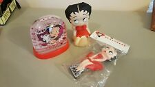 Betty Boop Small Water Globe and 2 Figurines
