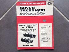 "Revue technique automobile SIMCA ""1301"", ""1501"" et ""SPECIAL"" - Berline et Break"