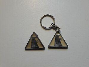 Doctor Who Dalek Key Ring & Pin Pewter and Enamel