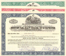 Mountain Park Realty Investing No. 6 > 1960 Set of 3 preferred stock certificate