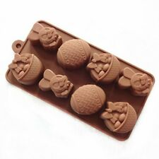 3D Silicone Easter Egg Fondant Mold Baking Chocolate Cake Decorating Soap Mould#