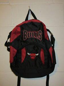 """Vintage 90s NBA Chicago Bulls Bookbag Backpack 14""""x17"""""""