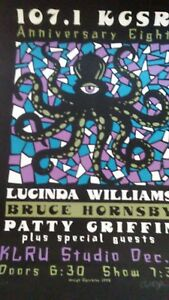 Lucinda Williams Hornsby Griffin @ KGSR 1998 signed 30/107!! RARE Poster AUSTIN